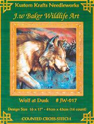 Cross Stitch Chart Wolf at Dusk - Kustom Krafts