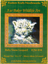 Cross Stitch Chart Baby Snow Leopard - Kustom Krafts