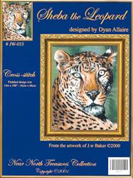 Cross Stitch Chart Sheba the Leopard - Kustom Krafts