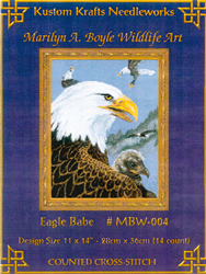 Cross Stitch Chart Eagle Babe - Kustom Krafts