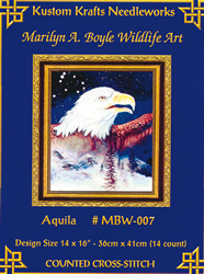 Cross Stitch Chart Aquila - Kustom Krafts