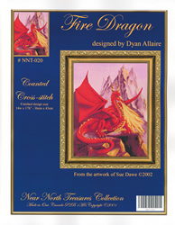 Cross Stitch Chart Fire Dragon - Kustom Krafts