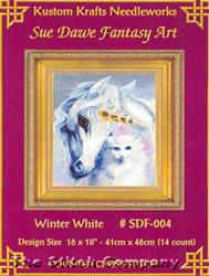 Borduurpatroon Winter White - Kustom Krafts