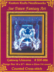 Cross Stitch Chart Gateway Unicorns - Kustom Krafts