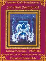 Borduurpatroon Gateway Unicorns - Kustom Krafts