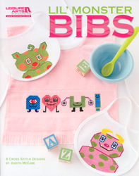 Cross Stitch Chart Lil' Monster Bibs - Leisure Arts