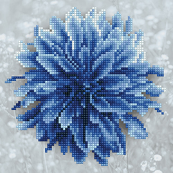Diamond Art Blue Dahlia - Leisure Arts