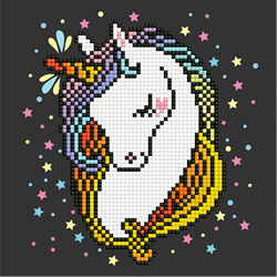 Diamond Art Shy Unicorn - Leisure Arts