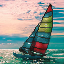 Diamond Art Sailboat - Leisure Arts