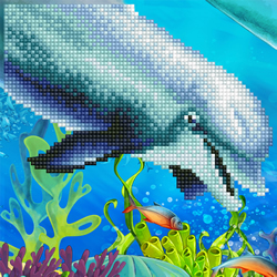 Diamond Art Dolphin - Leisure Arts