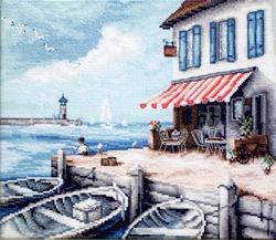 Cross stitch kit Sea Port - Leti Stitch