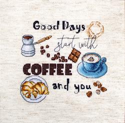 Cross stitch kit Coffee Time - Leti Stitch