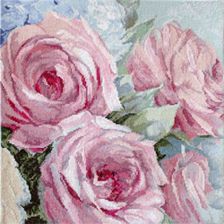 Cross stitch kit Pale Pink Roses - Leti Stitch