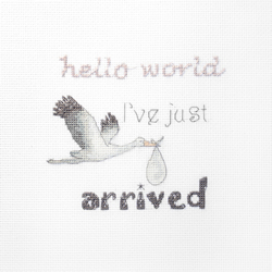 Cross stitch kit A gift for a Newborn - Leti Stitch