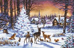 Borduurpakket Christmas Wood - Leti Stitch