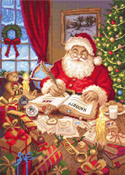 Cross stitch kit The List of Naughty and Nice - Leti Stitch