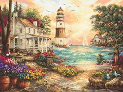Borduurpakket Cottage by the Sea - Leti Stitch