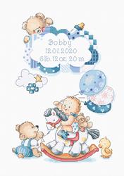 Borduurpakket It's a boy! - Leti Stitch