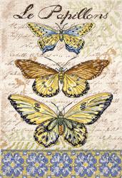 Borduurpakket Vintage Wings - Le Papillons - Leti Stitch