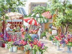 Borduurpakket Flower Market - Leti Stitch