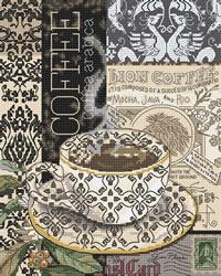 Cross stitch kit Lion Coffee B - Leti Stitch