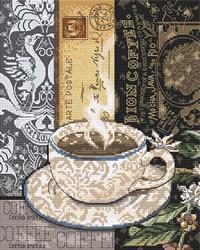 Cross stitch kit Lion Coffee C - Leti Stitch