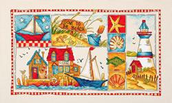 Cross stitch kit Gone to the Beach - Leti Stitch