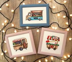 Cross stitch kit Happy Holidays - Leti Stitch