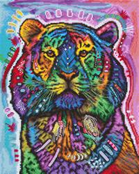 Borduurpakket Curious Tiger - Leti Stitch