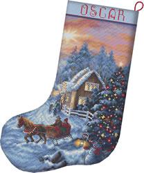 Cross stitch kit Christmas Eve Stocking - Leti Stitch