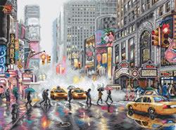 Cross stitch kit New York / Range: Cities - Leti Stitch