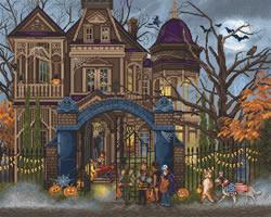 Cross stitch kit Moonlight Manor - Leti Stitch