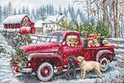 Cross stitch kit Christmas Delivery - Leti Stitch