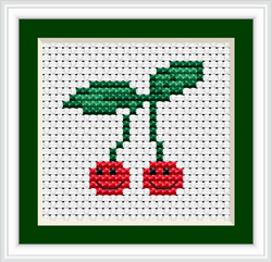 Cross Stitch Kit Cherry - Luca-S