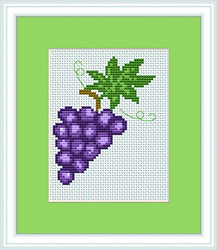 Cross Stitch Kit Grapes - Luca-S