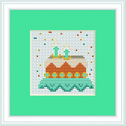 Cross Stitch Kit Cake - Luca-S