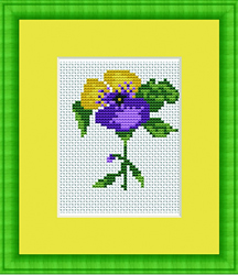 Cross Stitch Kit Flower - Luca-S