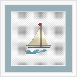 Cross Stitch Kit Boat - Luca-S