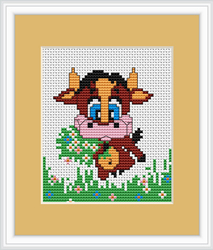 Cross Stitch Kit Cow - Luca-S