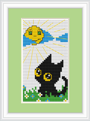 Cross Stitch Kit Cat Day - Luca-S