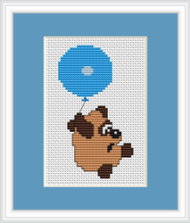 Cross Stitch Kit Balloon Bear - Luca-S