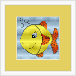 Cross Stitch Kit Fish - Luca-S