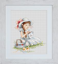 Cross Stitch Kit Stitching Girl - Luca-S