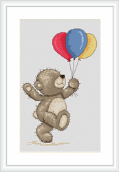 Cross Stitch Kit Bruno with Balloons - Luca-S