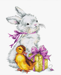 Cross stitch kit Easter Greeting - Luca-S