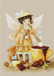 Cross stitch kit Chocolate Fairy - Luca-S