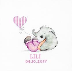 Cross stitch kit Baby girl - Borduurpakket