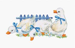 Borduurpakket Three geese - Lucs-S