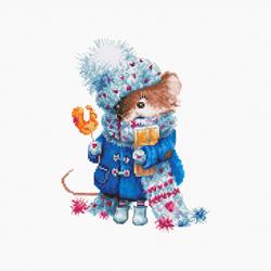Borduurpakket Christmas mouse - Luca-S