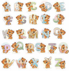 Cross stitch kit Alphabet - Luca-S